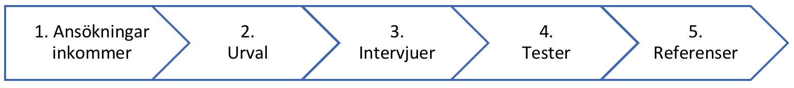Ansökan, urval och intervjuer